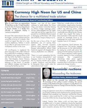 April 2010: German-Chinese parallels