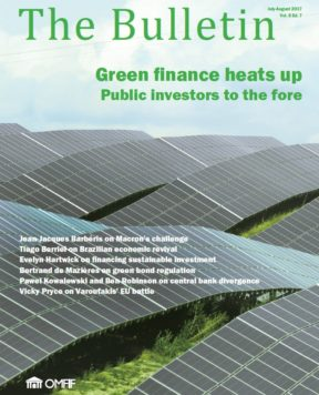 July/August 2017: Green finance heats up