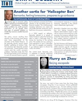 September 2010: Extending our scope