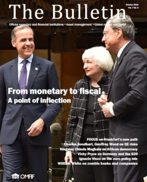 October 2016: From monetary to fiscal